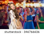 people  holidays  nightlife and ... | Shutterstock . vector #346766636