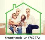 family  children  accommodation ... | Shutterstock . vector #346769372