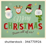 family spirit christmas card.... | Shutterstock .eps vector #346770926