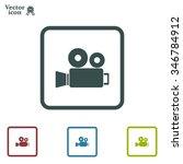 video camera icon vector | Shutterstock .eps vector #346784912