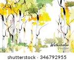 forest birch trees  vector...   Shutterstock .eps vector #346792955
