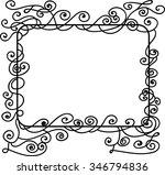 art deco frame | Shutterstock .eps vector #346794836