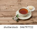 cup of tea. mince pie. shining... | Shutterstock . vector #346797722