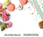 Macarons  Paper Straws In...