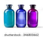 three shampoo bottle on a white ... | Shutterstock . vector #346803662