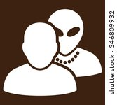 human alien contacts vector... | Shutterstock .eps vector #346809932