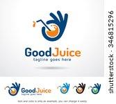 good juice logo template design ... | Shutterstock .eps vector #346815296