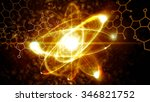 close up illustration of atomic ... | Shutterstock . vector #346821752
