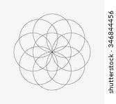 flower of life. sacred geometry.... | Shutterstock .eps vector #346844456