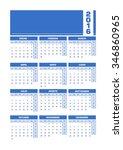 calendar 2016 spanish. vector...   Shutterstock .eps vector #346860965