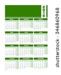 calendar 2016 spanish. vector...   Shutterstock .eps vector #346860968