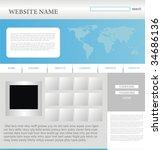 website design template | Shutterstock .eps vector #34686136