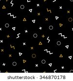 pattern with gold and white... | Shutterstock .eps vector #346870178