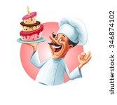 baker banner   Shutterstock .eps vector #346874102