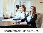 students with laptops and tablet | Shutterstock . vector #346874375