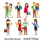style people and couples vector ... | Shutterstock .eps vector #346875566