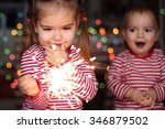 handsome toddler boy and cute...   Shutterstock . vector #346879502