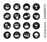 kind of food icon symbol set | Shutterstock .eps vector #346880072