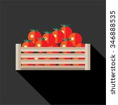 juicy tomato. fresh vegetables... | Shutterstock .eps vector #346888535