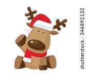 Christmas Reindeer In Santa S...