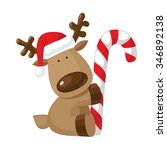 Christmas Reindeer Holding...
