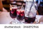 spanish sangria | Shutterstock . vector #346892966
