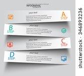 vector abstract 3d paper... | Shutterstock .eps vector #346893236