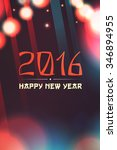 2016 happy new year background. ... | Shutterstock .eps vector #346894955