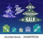christmas sale. vector template ...