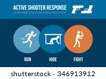 active shooter response safety... | Shutterstock .eps vector #346913912