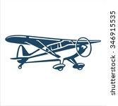 airplane short wing | Shutterstock .eps vector #346915535