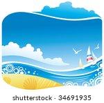 tropical sea | Shutterstock .eps vector #34691935