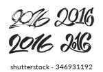 2016 hand lettering numbers... | Shutterstock .eps vector #346931192