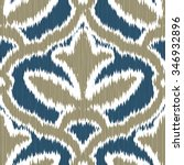 faux ikat fabric medieval... | Shutterstock .eps vector #346932896