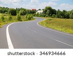 empty asphalt road with a... | Shutterstock . vector #346934666