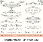 ornate frames and scroll... | Shutterstock .eps vector #346935632