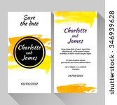 save the date card with hand... | Shutterstock .eps vector #346939628