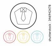 suit line icon | Shutterstock .eps vector #346942478