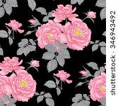 vintage floral seamless... | Shutterstock .eps vector #346943492