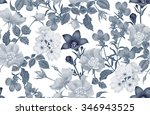 vintage floral seamless...   Shutterstock .eps vector #346943525