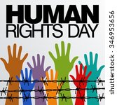 human rights day poster... | Shutterstock .eps vector #346953656