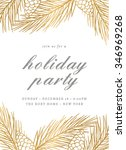 holiday party invitation...   Shutterstock .eps vector #346969268