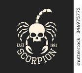 Skull Scorpion  T Shirt Graphics