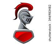 Knight Helmet With Shield