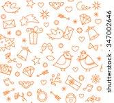 doodle line hand drawn symbols... | Shutterstock .eps vector #347002646