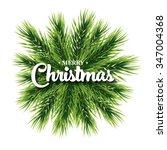 merry christmas lettering card... | Shutterstock . vector #347004368