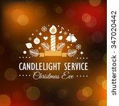 christmas eve candlelight... | Shutterstock .eps vector #347020442