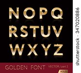golden alphabetic fonts and... | Shutterstock .eps vector #347020886