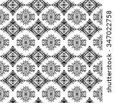 ethnic seamless pattern. ethno... | Shutterstock . vector #347022758