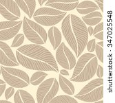 beige leafy seamless background.... | Shutterstock .eps vector #347025548
